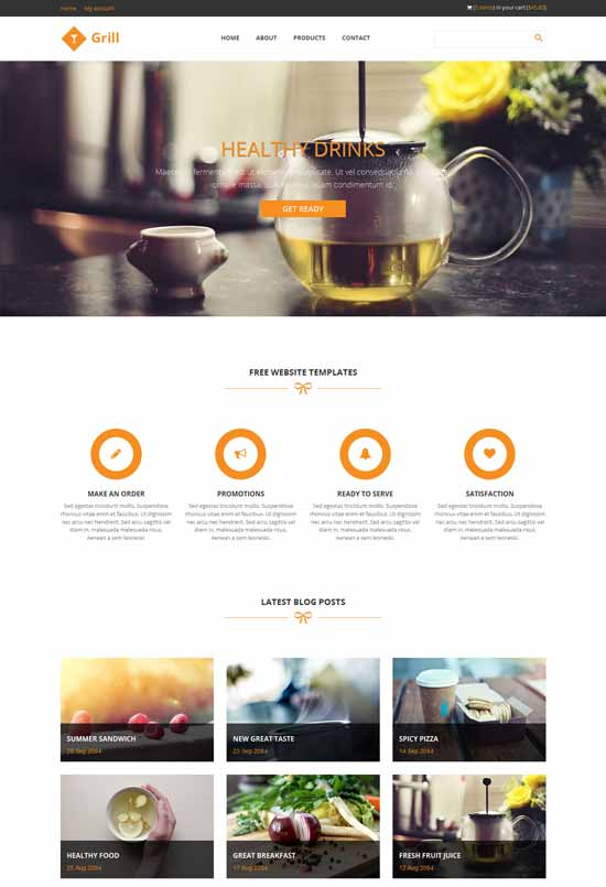 Grill-free-responsive-html5-website-template
