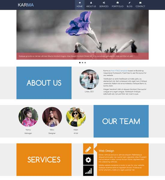 Karma-Free-Responsive-HTML5-Bootstrap-template