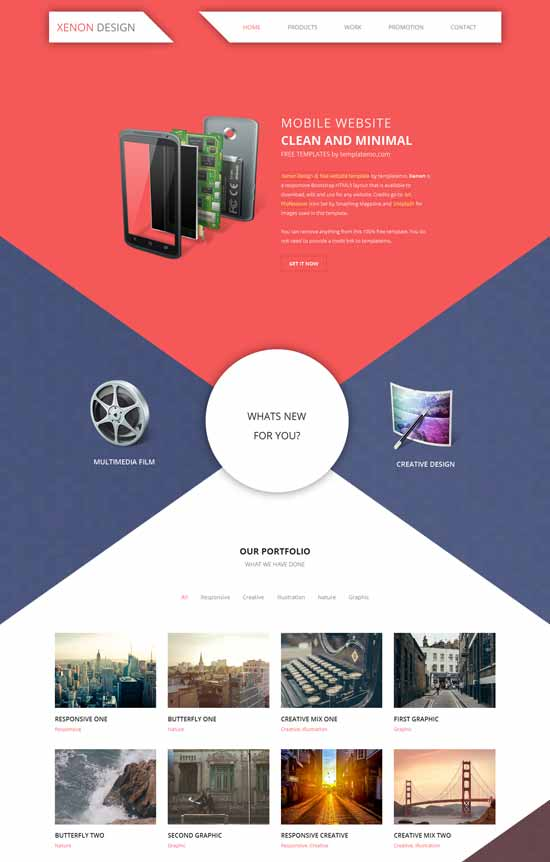 Xenon-free-HTML5-responsive-website-template