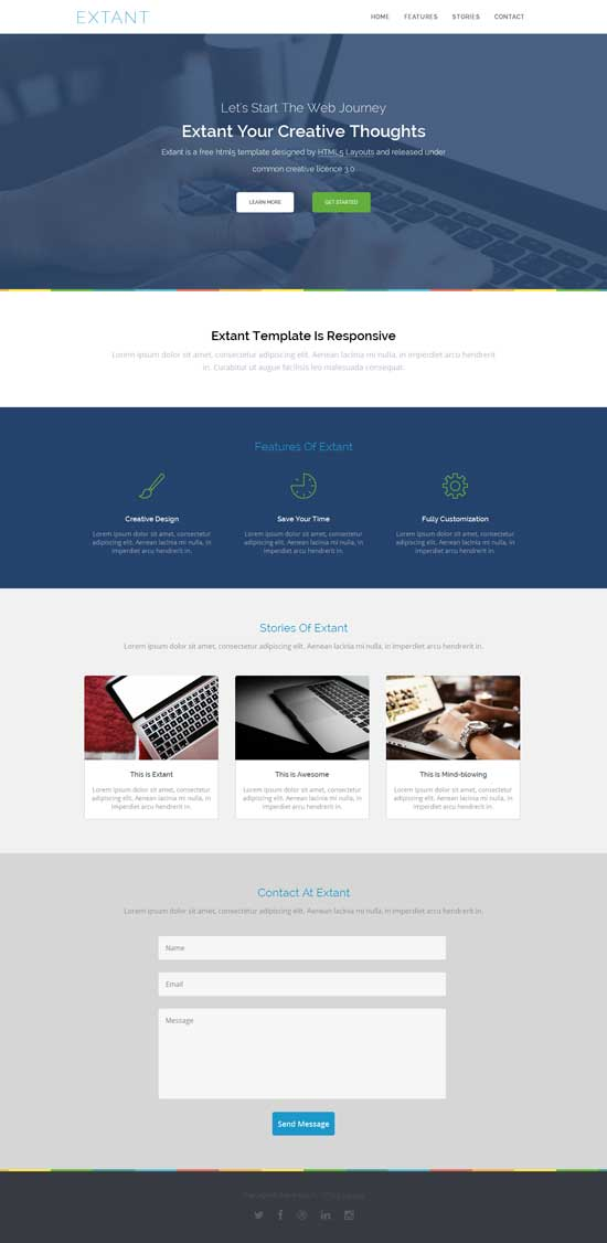 extant-free-responsive-template
