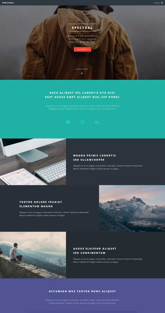 spectral-free-html5-template